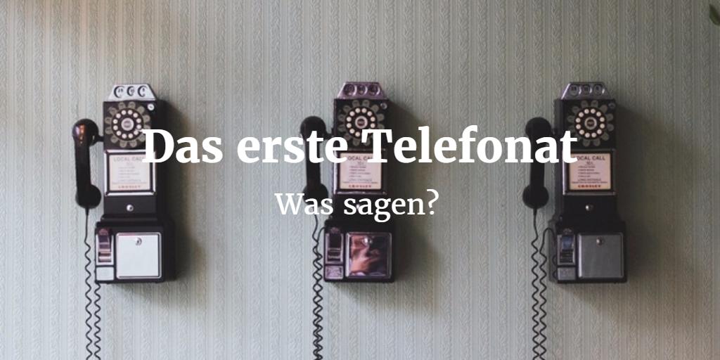 Online partnersuche erstes telefonat